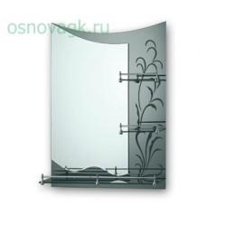 F688 зеркало. полка. зеленый рисунок. 800*600, шт
