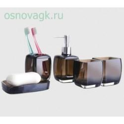 F301-2 абор аксессуаров для ванной комнаты. коричневый, шт