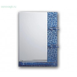 F657 зеркало. полка. синий рисунок. 700*500, шт
