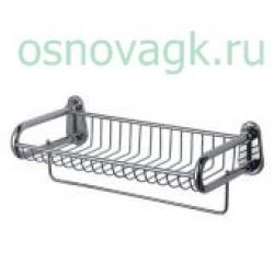 F336 полка с полот/дер метал/хром), шт