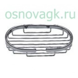 F331 мыльница метал/хром, шт
