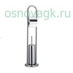 F903 ершик напольный с бум/дер хром, шт