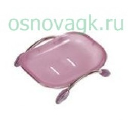 F332 мыльница на подставке. розовая, шт