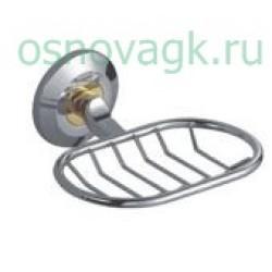 F1802-1 мыльница/хром/золото. с держателем, шт