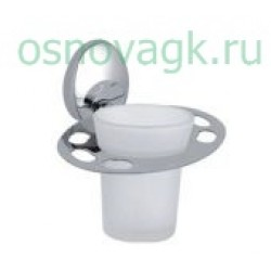 F1606-1 стакан/стекло с держателем. для зубн/щеток, шт