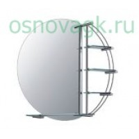 F603 зеркало кругл. полка. 800*800, шт