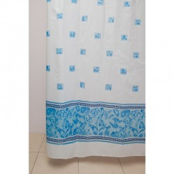 Штора для ванной WS-817 (SS-64) голубая 180х180 (60)