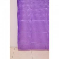 Штора для ванной А-023 3D (Z000) сиреневая 180х180 (40)
