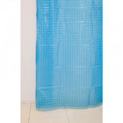 Штора для ванной А-023 3D (9001) голубая 180х180 (40)