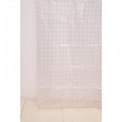 Штора для ванной А-025 3D (0000) прозрачная 180х180 (40)