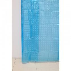 Штора для ванной А-025 3D (9001) голубая 180х180 (40)