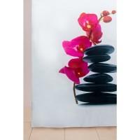 Штора для ванной WS-817 (орхидея) 180х180 (72)