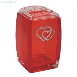 Стакан для зубных щеток A9182B (red cristal)