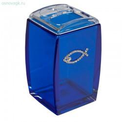 Стакан для зубных щеток A9182 (blue cristal)