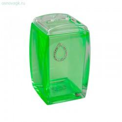 Стакан для зубных щеток A9182 (green cristal)