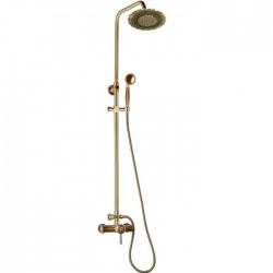 Душевая стойка Bronze de Luxe 10118/1DF  для ванной и душа одноручковый без излива, лейка двойной цветок