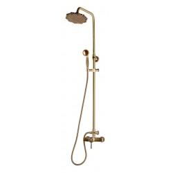Душевая стойка Bronze de Luxe 10118/1F для ванной и душа одноручковый без излива, лейка цветок