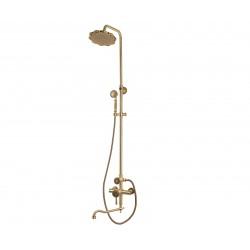 Душевая стойка Bronze de Luxe  для ванной и душа одноручковый длинный (25см) излив, лейка цветок 10120DF/1