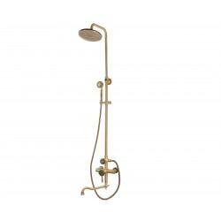 Душевая стойка Bronze de Luxe  для ванной и душа одноручковый длинный (25см) излив, лейка круг 10120DR