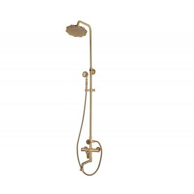 Душевая стойка Bronze de Luxe  для ванной и душа одноручковый средний излив, лейка цветок 10120PF