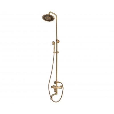 Душевая стойка Bronze de Luxe  для ванной и душа одноручковый средний излив, лейка двойной цветок 10120PF/1