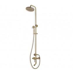 Душевая стойка Bronze de Luxe  для ванной и душа одноручковый короткий (10см) излив, лейка круг 10120R
