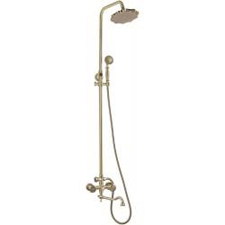 Душевая стойка Bronze de Luxe  для ванной и душа двухручковый длинный (25см) излив, лейка цветок 10121DF/1