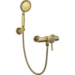 Смеситель Bronze de Luxe  для душа одноручковый без излива с настенным держателем 10123