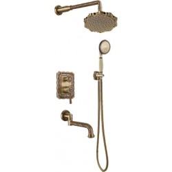 Душевая стойка Bronze de Luxe  для ванной и душа одноручковый встраиваемый, лейка цветок 10137F