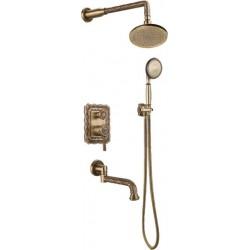 Душевая стойка Bronze de Luxe  для ванной и душа одноручковый встраиваемый лейка круг 10137R