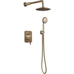 Душевая стойка Bronze de Luxe  для ванной и душа одноручковый встраиваемый, лейка двойной цветок 10138DF