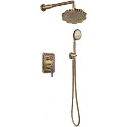 Душевая стойка Bronze de Luxe  для ванной и душа одноручковый встраиваемый, лейка цветок 10138F