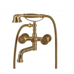 Душевая стойка Bronze de Luxe  для ванной двухручковый со средним изливом. 10119Р