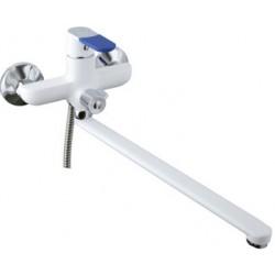 FRAP F2234 Смеситель белый/хром. д/ван. Ф35. излив 35F. переключение душ - корпус/дивестор/кранбукса
