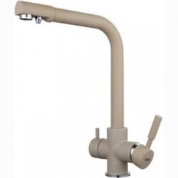 FRAP F4352-20 Смеситель для кухни с подключением фильтра питьевой воды 40мм Бежевый