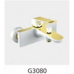 Смеситель для ванны  с коротким носиком белый/золото GAPPO G3080