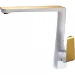 Смеситель для кухни белый /золото GAPPO G4080