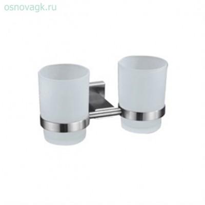G1708 2-стаканов/стекло с держателем. сатин