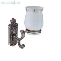 G3602 мыльница/керамика с держателем бронза