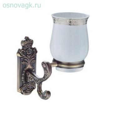 G3606 стакан/керамика с держателем бронза