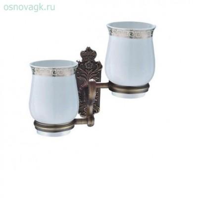 G3608 2-стаканов/керамика с держателем бронза