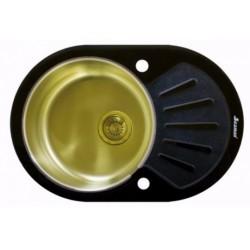 Мойка из нержавеющей стали Seaman Eco Glass SMG-730B-Gold.B (PVD)