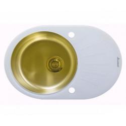 Мойка из нержавеющей стали Seaman Eco Glass SMG-730W-Gold.B (PVD)