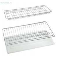 Сушка д/посуды 2-х уровн., с поддоном, белая База 400365х256х60-100 мм