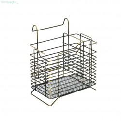 Полка для столовых приборов150х115х185мм AB- античная бронза