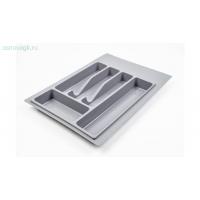 Лоток для столовых приборов, серый База 450350х390х380-490х45 мм