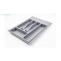 Лоток для столовых приборов, серый База 300200x240x380-490x45 мм