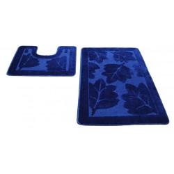 Набор ковриков для ванны SHAHINTEX РР 50*80+50*50 индиго