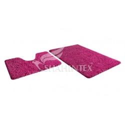 Набор ковриков для ванны SHAHINTEX MICROFIBER 60*100+60*50 фуксия