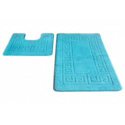 Набор ковриков для ванны SHAHINTEX РР 50*80+50*50 бирюзовый